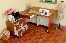 PFAFF Creative Vision Sewing Cabinet -AVAILABLE IN TEAK FINISH, 5 YEAR WARRANTY