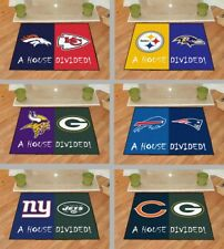 "Choose Your NFL Football ""House Divided"" Teams 34 x 45"" Area Rug Floor Mat"