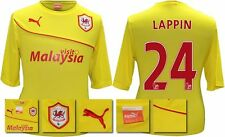 *13 / 14 - PUMA ; CARDIFF CITY AWAY SHIRT SS + PATCHES / LAPPIN 24 = SIZE*