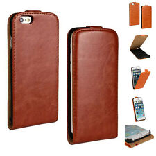 For iPhone 6/6 Plus Case Vertical Flip Glossy PU Leather Magnetic Cover Pouch