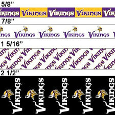 Offray Sports NFL Football Ribbon Minnesota Vikings + Custom Print