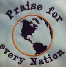 Praise for every Nation. Carter's  Baby Bodysuit Embroidery