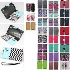 For ZTE ZMAX Z970 Cell Phone Case Hybrid PU Leather Wallet Pouch Flip Cover