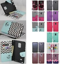 Samsung Galaxy Note Edge Cell Phone Case Hybrid Leather Wallet Pouch Flip Cover