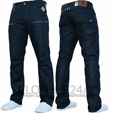 MENS BRANDED STRAIGHT LEG FIT ZIP FLY DENIM JEANS PANTS ALL WAIST & LEG SIZES