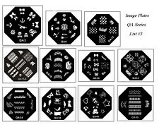 Konad Styled OCTAGONAL SS Image Plate Nail Art Stamping - QA Series - List #3