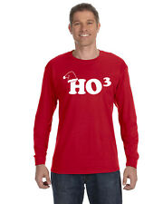 HO3 Men's Long Sleeve Tee Shirt Santa Christmas Funny Claus Ugly Sweater