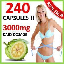240 x 3000mg DAILY GARCINIA CAMBOGIA CAPSULES HCA 62.1% DIET ORGANIC WEIGHT LOSS