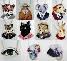 New Cartoon Design Wooden Animal Necklace Delicate Hip Hop Wood Necklace Gift