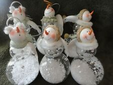 Christmas Ornament Snowman Angel Snow Globe Glass & Resin Midwest 3 styles