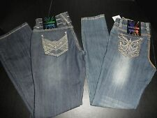 NWT $50 Almost Famous® Embroider Pocket Skinny Bootcut Denim Jeans:Junior Sizes