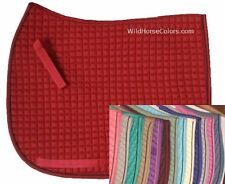Cotton Quilted DRESSAGE English Saddle Pad  MANY COLOR CHOICES NEW Horse Tack!