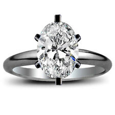 Oval Cut Diamond Engagement Solitaire Wedding Ring 1.40 Carat HSI1