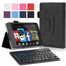 for Amazon Kindle Fire HD 6 Slim Fit PU Leather Case Cover+Bluetooth Keyboard