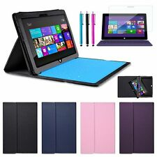 "For 10.6"" Microsoft Surface RT 2 Windows 8 Leather Case Cover W/ Keyboard Holder"