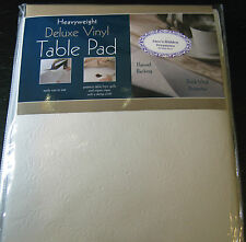 HEAVY WEIGHT DELUXE VINYL TABLE PAD-FLANNEL BACK- ASSORTED SIZES -NEW