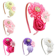 flower girl hairband rhinestone headband kids headwear children hair ornament