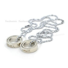 Anime SAO Sword Art Online Attack On Titan Double Ring Necklace  For Fan New