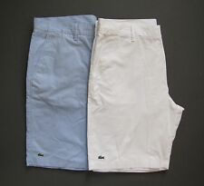 LACOSTE Mens Shorts Classic Fit Bermuda Twill Flat Front 32 34 36 38 NWT Genuine