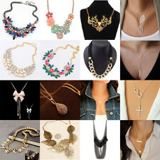 Hot Sale Jewelry Chain Pendant Crystal Choker Chunky Statement Bib Necklace