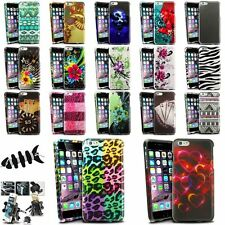 """Colorful Rubberized Design Case+Vent Mount+Headset Wrap For iPhone 6 Plus 5.5"""""""