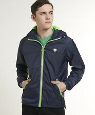 New Mens Superdry Zip Through Cagoule Jacket Navy BFM