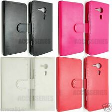 FOR SONY XPERIA SP M35H PU LEATHER WALLET FLIP POUCH COVER CASE C5303 EXPERIA
