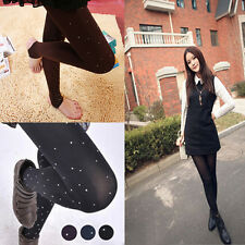 Korean Style Pure Color Women Pantyhose Stretch Velvet Casual Tights Stockings