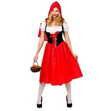 Adult LITTLE RED RIDING HOOD Fancy Dress Ladies Story Book Costume UK Size 6-24