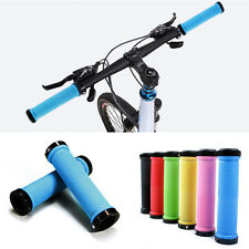 Bike Bicycle Handlebar Soft Lock-on Grips Rubber Parts Mount Holder Cycling NEW