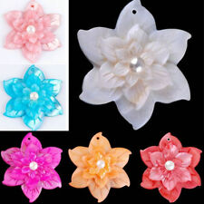 Chic Flower Natural Mother Of Pearl MOP Shell Pendant Bead For Necklace Gift DIY