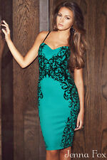 NEW Sexy Women's Turquoise Sleeveless Swetheart Neckline Midi Bodycon Dress