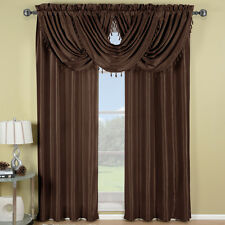 Soho Rod Pocket Panels or Waterfall valance Window Treatment