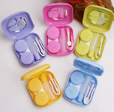 NEW Pocket Mini Contact Lens Case Travel Kit Easy Carry Mirror Container Holder