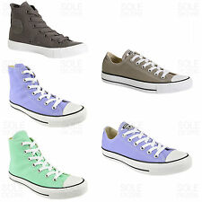 Womens ladies Converse All Star hi top low ox canvas lace up trainers size