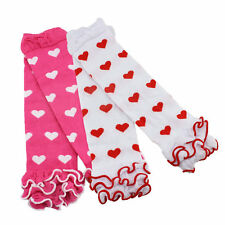 1pair heart print cotton leg warmers tights toddler baby socks children ruffle