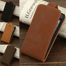 Vintage Leather Magnetic Vertical Flip Case Cover Pouch For Apple iPhone 5/5S/SE
