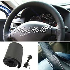 Leather Car Auto Steering Wheel Cover With Needles and Thread DIY  CA
