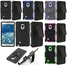 For Samsung Galaxy Note Edge Cell Phone Case Hybrid Hard Cover Belt Clip Holster