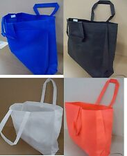 100 Reusable TOTE BAGS 20x6x16 Grocery/Shopping Carrying Handle Bulk LOT