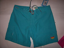 NEW Roxy board shorts boardshorts swim cover up blue turquoise sze 3  5  7 solid
