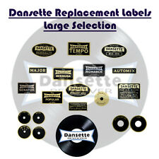 Dansette Record Player Labels / Decals - Various Models