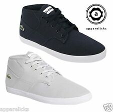Lacoste Men's Andover MID Trainers Laceup Shoes Casual Pumps Sport High Tops