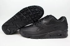 Nike Air Max 90 Leather Black/Black 302519-001 Men's Running ALL SIZES