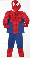 NEW Sz 3~8 MUSCLE COSTUME RED SPIDERMAN TOYS PARTY DRESS UP TOP MASK HEROES BOY