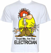Mens Funny Electrician Sparky Job T-shirt Novelty Cool Geek Gift Present Ideas