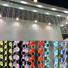33FT Crystal Chains Acrylic Bead Garland Hanging Wedding Supplies Party Decor