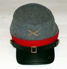 CONFEDERATE REBEL ARMY CSA Civil War Artillery Crossed Cannon KEPI CAP HAT New
