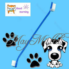 1pc Grooming Hygiene Care Dual End Tooth Brush For Pet Dog Puppy Cat Sales CA