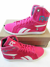 reebok classic womens top down snaps TXT hi top trainers V55473 sneakers shoes